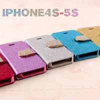 Cheap For Apple iPhone Mobile Shell Best Leather Blue  4s mobile phone