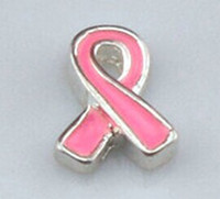 Wholesale pink breast cancer Floating Charms For Origami Owl Glass Lockets