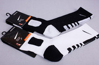 Wholesale The Most Popular NK Basketball Dri Fit Elite Terry Crew Sport Socks Colors with original brand packaging