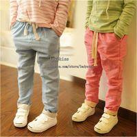 Wholesale Girls Trouser Linen Pants Child Clothing Fashion Trousers Children Casual Pants Long Trousers Kids Pants Girl Clothes Children Trouser