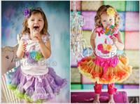 Girl Summer Sleeveless Free shipping wholesale Girls Pettiskirt set suit 5sets lot baby girl cake skirt + flower t-shirt vest tops 2 pcs clothing set 2color