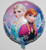 Wholesale 50pcs bag inch cartoon Frozen ballon queen anna birthday children party decoration inflatable helium aluminium Foil balloons