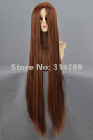 W100 Brown Straight 39inches Fashion Anime Character Brown Long Straight Cosplay Wigs,Heat-Resisting Anime Cos Hair,Halloween Party Cosplay