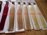 al por mayor pelo importada-Doble ahogar extensiones remy brasileñas del pelo de punta nano pelo, recubrimiento plástico del alambre, importados desde el Reino Unido, el envío libre de DHL