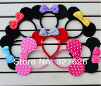 April Fool's Day Event & Party Supplies Yes Hot Sale 5pcs lot 8Color Party Supplies Mickey Minnie Mouse Ears Children headwear, Birthday Party Boys Girl Hair bands