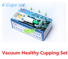 Wholesale New Simple Vacuum Healthy Cupping Set Massage Therapy Suction Apparatus Cups Meridian Health Care Equipment with retail box