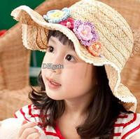 Girl Summer Visor Hot sale Fashion Girl Hat Bucket Hat Flower Hat Fashion Girls Caps Princess Hat Children Caps Kids Hat Beanie Hat Caps Sun Hat Kids Cap