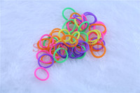 loom bands - Loom Kit Bubble Pearl DIY Wristbands latex free rubber Bands Bracelet bands S C clips