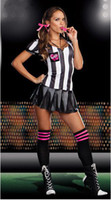 baby sports theme - New Hot Sale women sexy costumes world cup football baby girls Cheerleader uniform Female referees stage wear sport theme costume