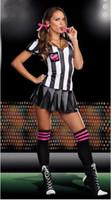 baby cheerleader - New Hot Sale women sexy costumes world cup football baby girls Cheerleader uniform Female referees stage wear sport theme costume