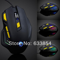 Wholesale New Arrival LED Optical DPI Button USB Wired Mouse Mice For PC Laptop Game amp