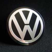 Wholesale 4X Car Accessories Ornament Wheel Center Volkswagen VW Hub Cap Stickers mm BLACK emblems VW
