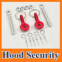 Wholesale Alloy Mount Bonnet Hood Pin Pins Lock Latch Kit Racing Sport Car Red Silver blue Universal