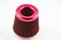 Wholesale Car Truck SUV Universal inch mm red High Flow Air Intake Cone Filter Red New Filter Cleaner Air Intake Filter