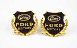 free shipping 2 pcs car emblem sticker Ford metal decorate accessories Side emblems metal emblem