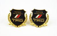 Wholesale gold car emblem sticker TOYOTA TRD metal decorate accessories Side emblems