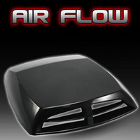 air intake scoop - Universal black Car decorative Air Flow Intake Scoop Turbo Bonnet Vent Cover hood car Stickers