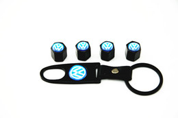 Rims Accessories Volkswagen vw valve cock Car Tire Tyre Wheel Valve Stems Caps Cover Wrench Keychain Set for decorate Wheels