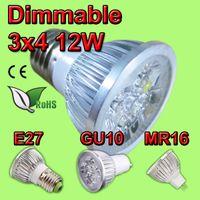 Wholesale High power CREE GU10 x3W W V Light lamp Bulb LED Downlight Led Bulb Warm Pure Cool White