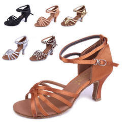 Wholesale Brand New Women s Ballroom Latin Tango Dance Shoes Heeled Salsa Colors S
