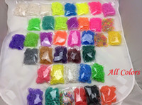 Link, Chain Plastic  Glow in the Dark Glitter Metallic Tie-dyed Rainbow Loom Kit DIY Wrist Band Dual Color Bracelet (600 pcs bands + 24 clips + 1 hood) 500pcs