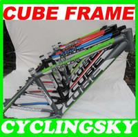 Wholesale Scrub Ash Cube Mountain Bike Frame Bicycle Cycling Frame Ultra light Aluminum Alloy