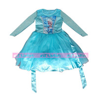 TuTu Summer Sheath new 2014 Elsa Dress frozen dress girl princess girls lace blue party vest summer dresses baby & kids clothes els costume