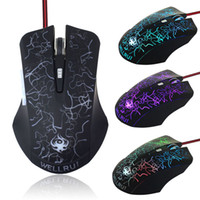 Wholesale 2014 New Arrive PRO Game Gamers DPI LED Optical Button USB Wired Gaming Mouse Freeshipping amp