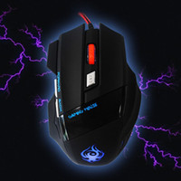 Wholesale 2014 New Arrive Button DPI LED Optical USB Wired Gaming Mouse For PC Laptop Game Freeshipping amp