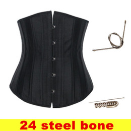 Wholesale New Steel Boned Underbust Waist Training Corset For Women Black Khaki Short Corselet