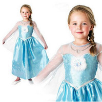 TuTu Summer Pleated 2014 Free shipping New girls dress Movie Cosplay Costume Princess Elsa Dress Frozen Dresses party clothes 5pcs lot