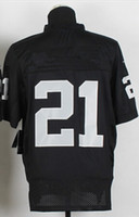 Football Men Short New Elite Jerseys #21 Jersey Size 40-56 Black White Stitched Mix Match Order American Football JERSEY
