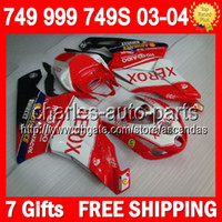 7gifts+ Bodywork For DUCATI 749- 999 03- 04 749S 999S XEROX red...