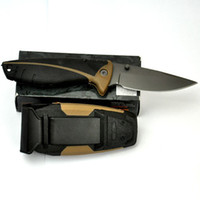 Wholesale NEW Bear G B Myth Fixed Blade Pro Drop Point Fine Edge Survival Camping Hunting Knives Pocket Knife sheath