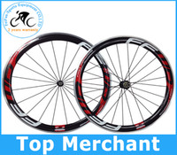 Wholesale Clincher Rims Alloy Braking Surface - Novatec hubs alloy brake surface wheels full carbon road bike wheels FFWD F6R 60mm wheels wheelset 700C 60mm rim free shipping by EMS