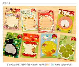 Wholesale Stationery Cute cartoon animal memo pad message post Sticky notes