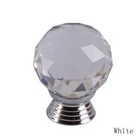 Ceramic fancyqube HG-0537 30mm Diamond Shape Clear Crystal Sparkle Glass Cabinet Handles Drawer Dresser Cupboard Door Knobs Pulls 05337-WT