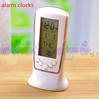 electronic clock timer - Square Led Electronic Luminous Alarm Clocks Snooze Blue Belt Ray Light Calendar Thermometer Dawdler Alarm Clocks Timer