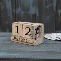 Wholesale Calendar Wood Zakka Manually small Wooden Desk Vintage Calendar household daily Crafts and Gifts Novelty Items