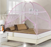Wholesale Free installation for seconds automatically forming magic pink mosquito net White x m