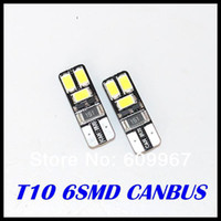 Wholesale 100x T10 Canbus bulb W5W LED SMD Car Side Wedge Light Bulb Error Free Auto Car clearance light