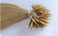Wholesale 100 brazlian double drawn human hair nano hair extension g pack g
