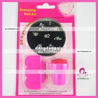 Decal 2D Metal Wholesale-Nail Art Stamping Kits 36 sets lots mix designs-Free Shipping Wholesale Nail systems stamping