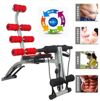 Wholesale 6 IN Multifunctional AD Abdomen Machine Back Straight Abdominal Crunches Ab Rollers Fitness Equipment Machine Body Slimming Supplies