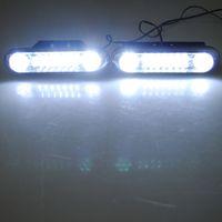 LED 2 12V 2x 28-LED Car Auto Vehicle White DRL Daytime Running Driving Light Fog Bulb Pair