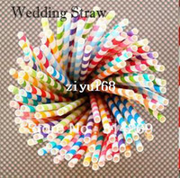 Event & Party Supplies,Hat wholesale drinks - Promotion Colorful Paper Straws Colors Striped amp Polka Dot Paper Drinking Straws Party Wedding Decorate