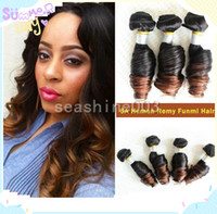 Brazilian Hair Romance curl Brazilian human hair Beauty Funmi Hair 100% Brazilian Human Hair Weft Romance Curl Remy Hair Ombre Color 2 tone Best Quality Hot Queen Hair Extension 3pcs lot