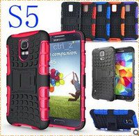 Wholesale Robot Shockproof Protection Hybrid Heavy Duty Durable TPU silicone PC Cases for samsung Galaxy S5 i9600 S4 i9500 htc one M8 CASE
