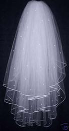 Wholesale In Stock New Hot T White Wedding Veil Satin Edge Bridal Veil Wedding Accessory Bridal Tiara Beads with Comb