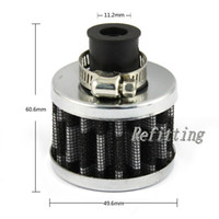 Wholesale Universal MM Bottom Aperture Air Crankcase Vent Breather filter Black